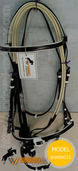 Synthetic Beta Biothane Bridles for Horses in Black ~ workwell saddlery