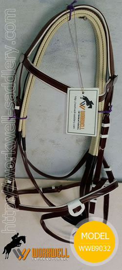 Synthetic Beta Biothane Bridles for Horses in Brown~ workwell saddlery