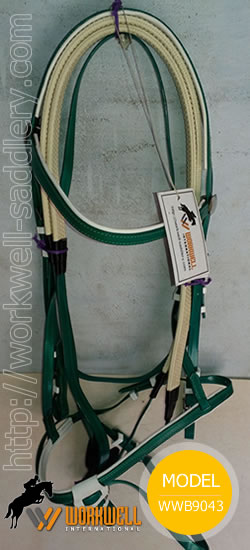 Synthetic Beta Biothane Bridles for Horses in Green ~ workwell saddlery