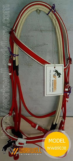 Synthetic Beta Biothane Bridles for Horses in Red ~ workwell saddlery