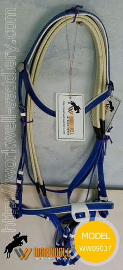 Synthetic Beta Biothane Bridles for Horses in Blue~ workwell saddlery