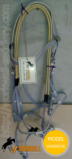 Synthetic Beta Biothane Bridles for Horses in Sky Blue ~ workwell saddlery