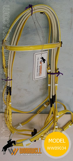 Synthetic Beta Biothane Bridles for Horses in Yellow ~ workwell saddlery