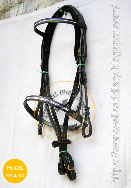 Silver Line show snaffle Bridle - WWIBR-01