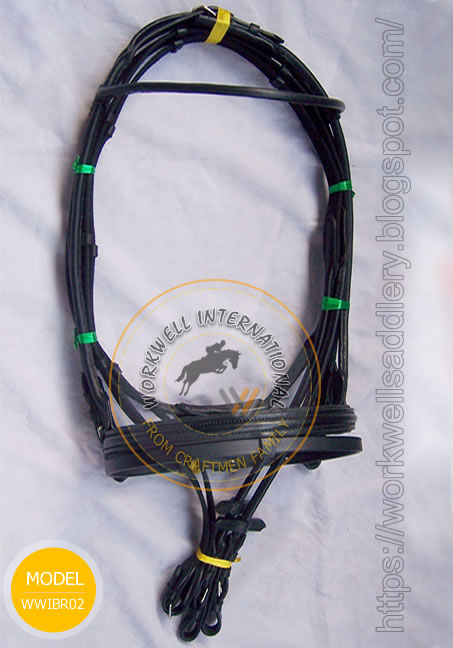 Round Browband and raised Noseband WWIBR-02