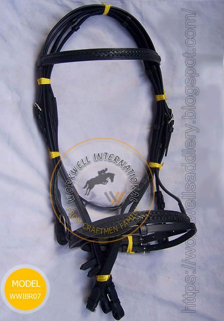 Braided raised Classic Bridle - WWIBR08