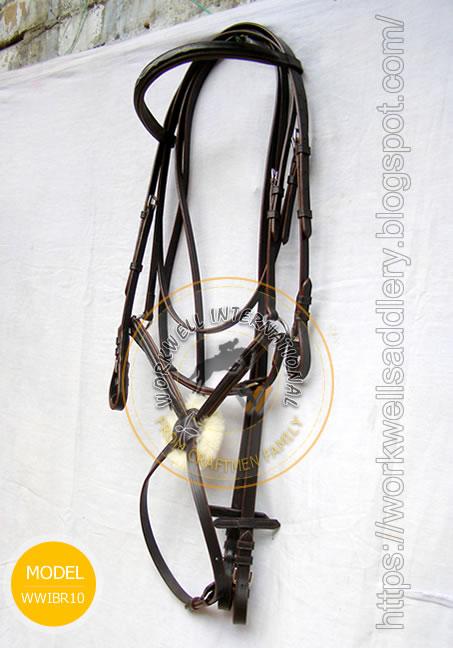 Stylish fancy stitched raised figure 8 bridle with softly padded ergonomic headpiece - WWIR-10