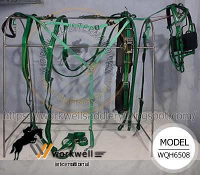 Harness Saddle, Harness back saddle, Head check, Qh racing saddle, Head pole straps, Forged stainless steel coupler, Synthetic Headpole Strap, QH Synthetic Training Saddle Pro, race breastplate, Nylon Buxton - 1399 Two Tone Nylon Buxton - 11399 Ultimate Two Tone Buxton - 11398 Leather Buxton Breast Collar - 899 Synthetic Breast Collar - 1910 Two Tone Breast Collar - 11910 Leather Breast Collar - 910-EURO Nylon Buxton