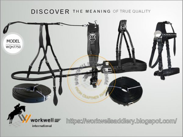 Manufacturer & Exporter of Horse Harness, Marathon Harness, Marathon Pro Harness, Beta Marathon Harness, Ideal Marathon Harness, Team Marathon Harness, Luxury Marathon Harness, Light Marathon Harnesses, Swiss Marathon Harnesses, Heavy Duty Marathon Harness, Supreme Marathon Harnesses, Nylon Marathon Harnesses, Leather Marathon Harnesses, Biothane Marathon Harnesses, Betathane Marathon Harnesses, Combined Marathon Harnesses, Four in Hand Marathon Harnesses, Synthetic Marathon Harnesses, Pleasure Driving Harness, Driving Harness, Double professional marathon harness, Saddle, Bridle, Reins, backstrap, crupper, briching, Breast Plate, Girth, Kicking straps, hames, farm, pulling, all-purpose, horse tack, Horse harness, Mini horse, draft, driving supplies, trainer harness, Horse, Cob, Mini, Pony, collar, collars, buggy offered by Workwell International, Kanpur, Uttar Pradesh, India